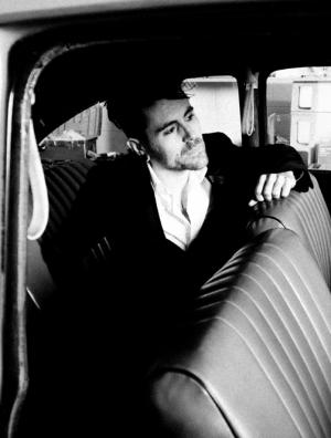 Davey Havok black white car